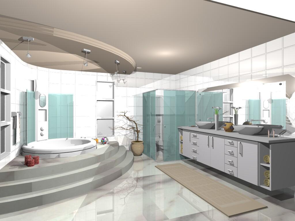 banheiros com banheiras e closet 11 194843.jpg #684841 1024x768 Banheiro Com Banheira E Tv