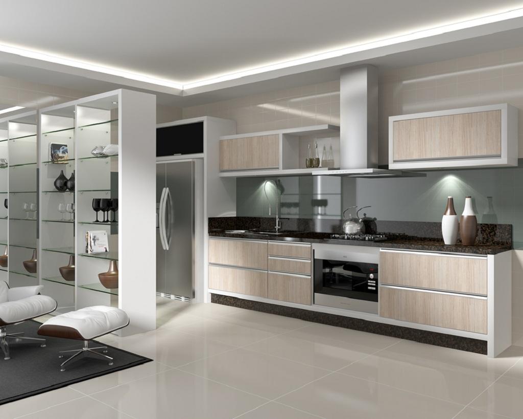 fotos de cozinhas planejadas em l #5B4F44 1024 819