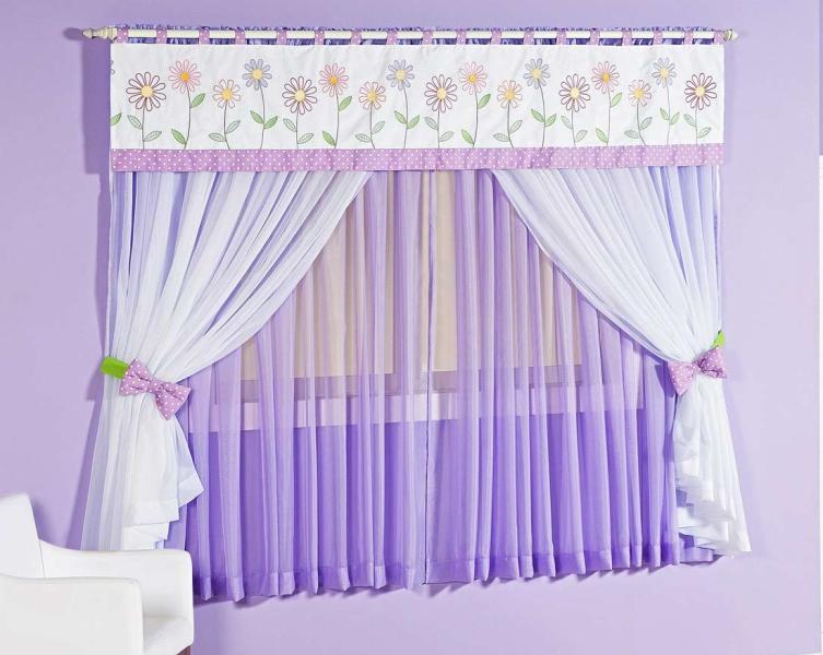 Confec es de cortinas cortinas para quarto infantil for Tipos de ganchos para cortinas